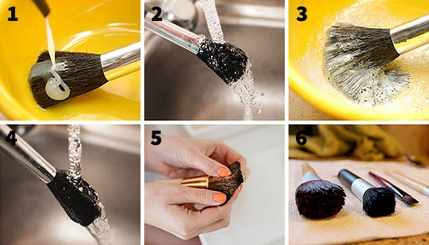 วิธีทำความสะอาดแปรงแต่งหน้าด้วยตนเอง