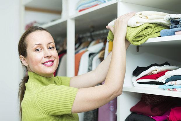 อารมณ์ดีโดยจัดการกับตู้เสื้อผ้า
