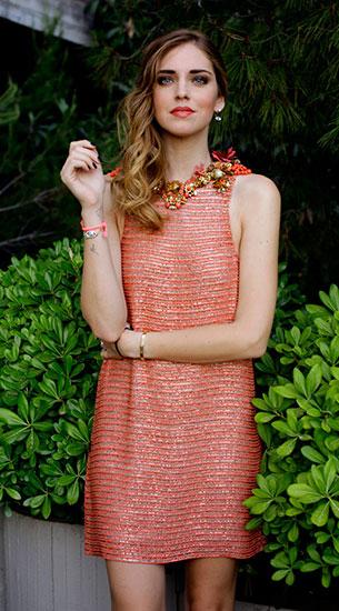 เดรสสั้น สีส้ม Gucci