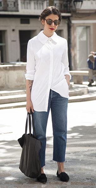 เสื้อเชิ้ตสีขาว, กางเกงยีนส์