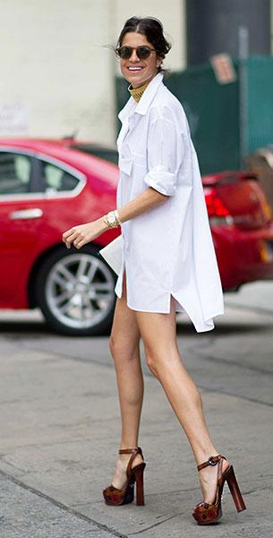 เสื้อเชิ้ตสีขาว, รองเท้าส้นสูง, Leandra Medine