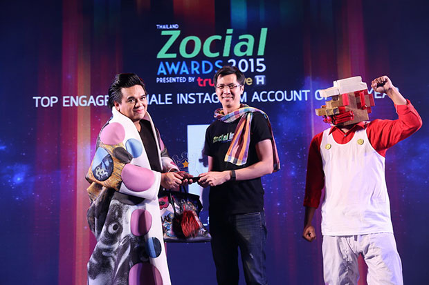 เอ ศุภชัย Thailand Zocial Awards 2015