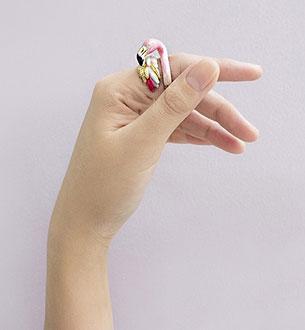 แหวนรูปนกฟลามิงโก