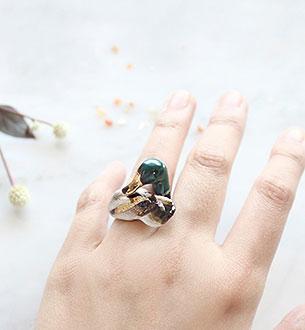 แหวนรูปนกเป็ดน้ำ