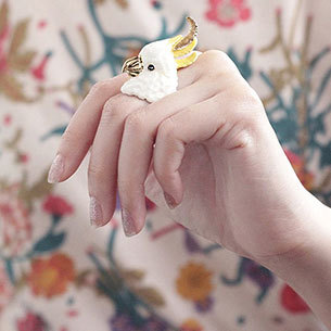 แหวนรูปนกแก้ว