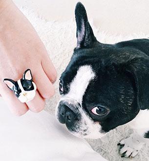 แหวนรูปบลูด็อก