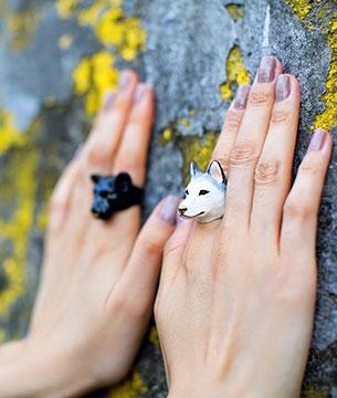 แหวนรูปสุนัขไซบีเรียน