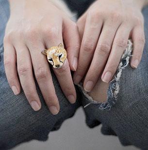 แหวนรูปเสือชีตาห์