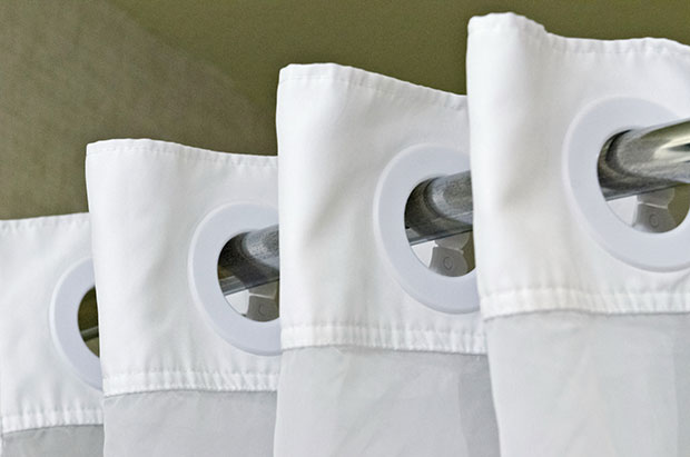 ม่านกั้นอาบน้ำพลาสติกสามารถนำไปซักในเครื่องซักผ้าได้