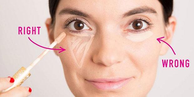 เคล็ดลับความงามง่ายๆ ใช้คอนซีลเลอร์วาดเป็นสามเหลี่ยมใต้ตา