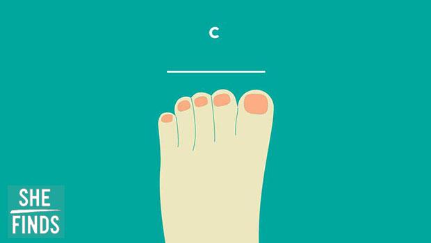นิ้วเท้าของคุณมีความสูงอยู่ในระดับเดียวกัน