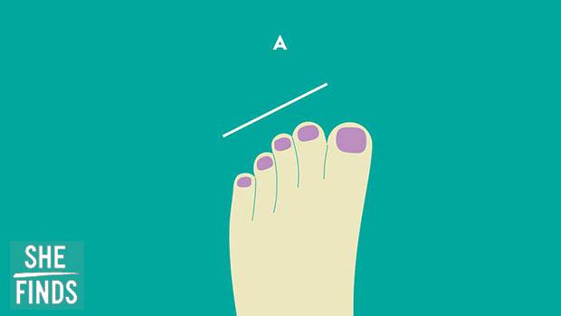 นิ้วเท้าของคุณไล่เรียงความสูงจากขวาลงมาซ้าย