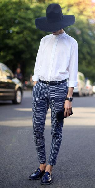 เสื้อเชิ้ตสีขาว Masculine