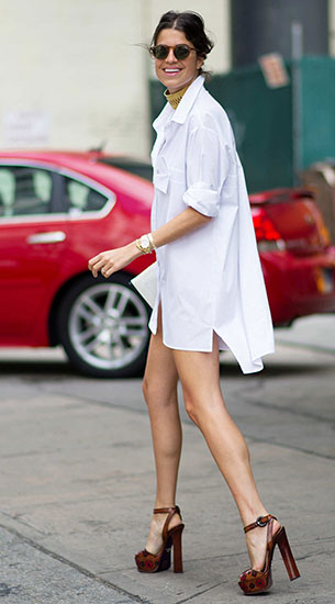 Shirt Dress, รองเท้าส้นสูง