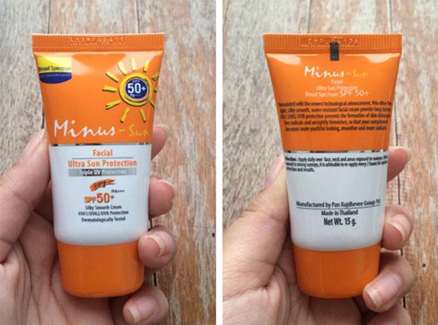 ครีมกันแดดทาหน้า Minus   Sun Facial Ultra Sun Protection