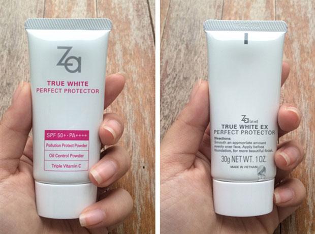 ครีมกันแดดหน้ายี่ห้อ ZA True White Perfect Protector