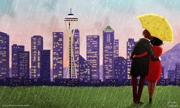 ฝนตกพรำๆที่ซีแอตเติล