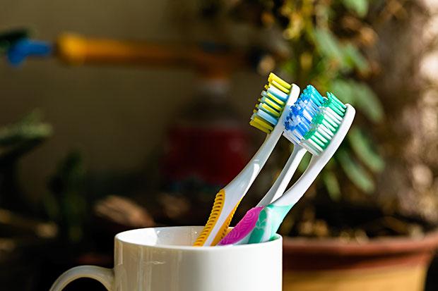 ลืมทำความสะอาดถ้วยใส่แปรงสีฟัน