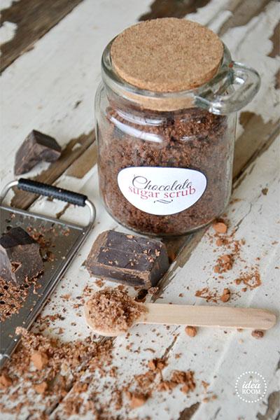 สูตรขัดผิวทำเองด้วยน้ำตาลช็อคโกแลต