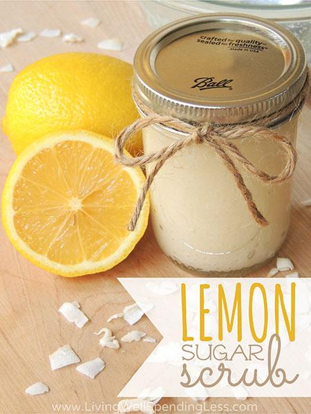 สูตรขัดผิวทำเองด้วยน้ำตาลมะนาว