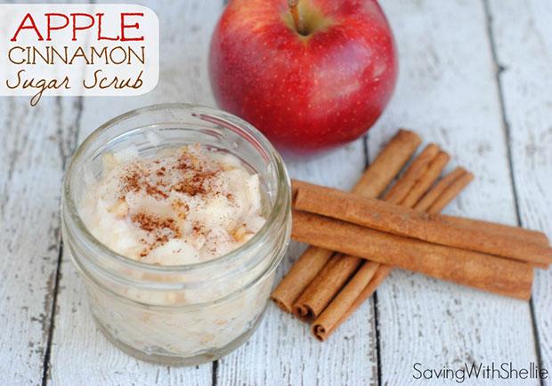 สูตรขัดผิวทำเองด้วยน้ำตาลแอปเปิ้ลซินนาม่อน