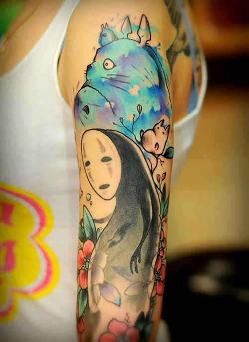 รอยสัก Totoro Spirited Away