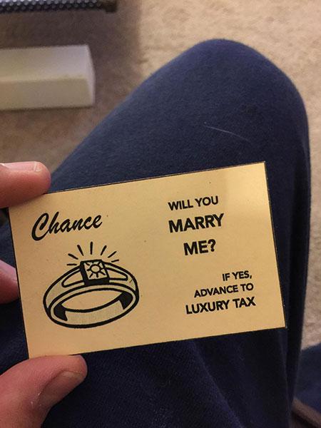 การ์ดเกมเศรษฐีขอแต่งงาน