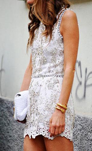 ชุดเดรสไปงานปาร์ตี้สีขาว Dolce & Gabbana