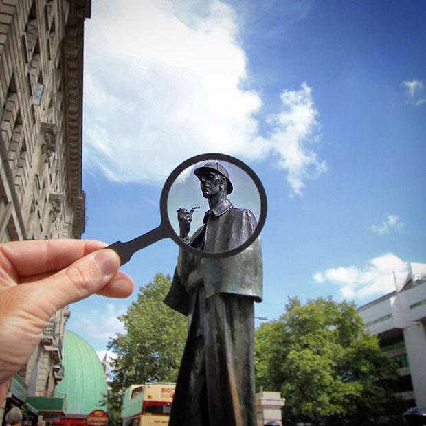 รูปปั้น Sherlock Holmes ลอนดอน