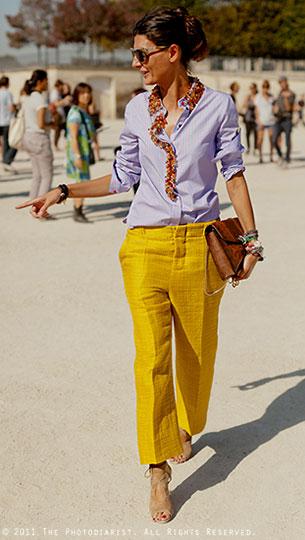 กางเกงสีเหลือง, เสื้อเชื้ตสีม่วงอ่อน, Giovanna Battaglia