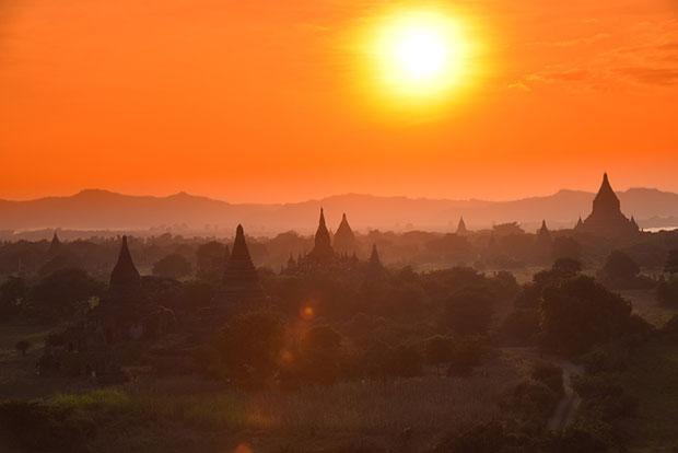 ชมพระอาทิตย์ขึ้น ประเทศเมียนมาร์