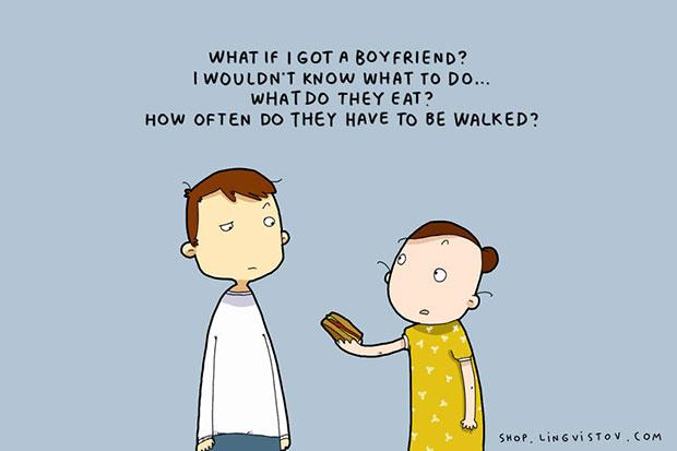ถ้าฉันมีแฟน ฉันไม่รู้จะทำตัวอย่างไร