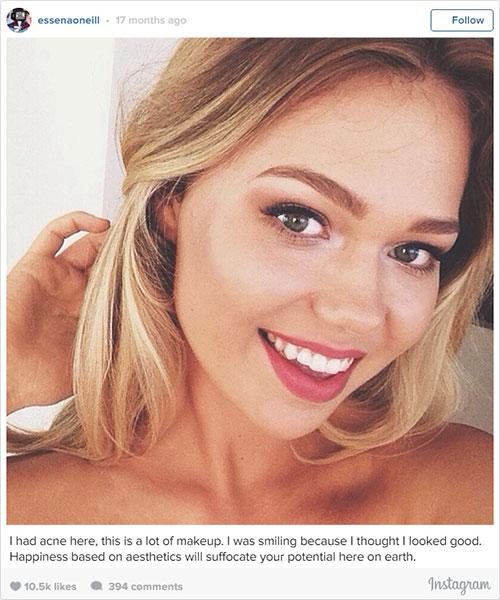 นางแบบวัย 18 ปีแก้ไขข้อความใต้รูปในอินสตาแกรมเพื่อเผยความจริง