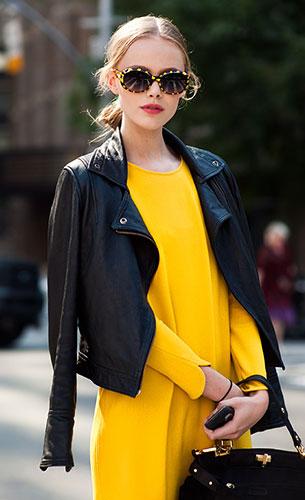 เดรสสีเหลือง, แจ็คเก็ตหนัง, Frida Gustavsson