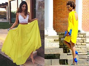 แฟชั่นเสื้อผ้าสีเหลือง