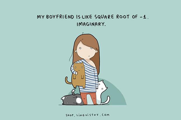 แฟนของฉันก็คือรากที่สองของ  1 = จินตนาการ
