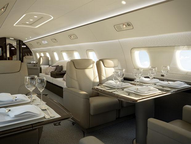 นี่คือภาพห้องโดยสารของเครื่องบินที่มีมูลค่าถึง 53 ล้านเหรียญ (1,700 ล้านบาท)
