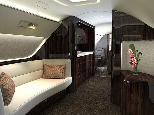 ห้องโดยสารของเครื่องบินที่มีมูลค่าถึง 1,700 ล้านบาท