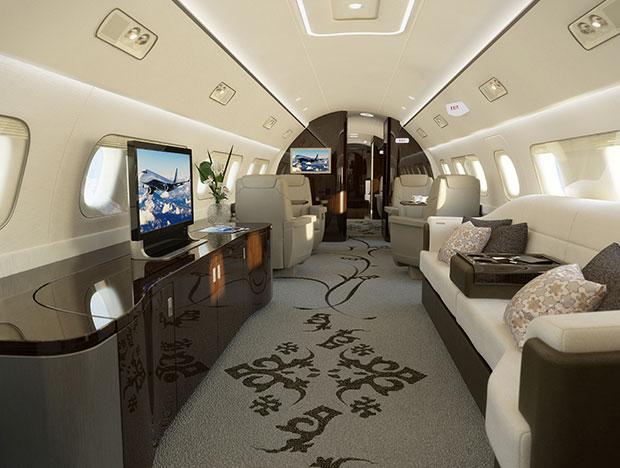 ห้องโดยสารของเครื่องบินที่มีมูลค่าถึง 53 ล้านเหรียญ