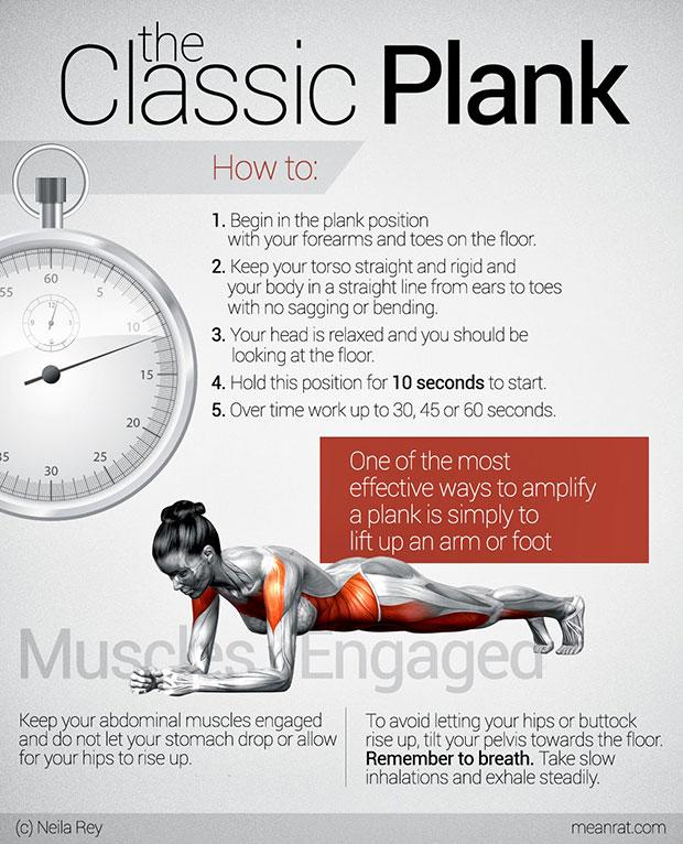 ออกกำลังกายด้วยท่า Planks