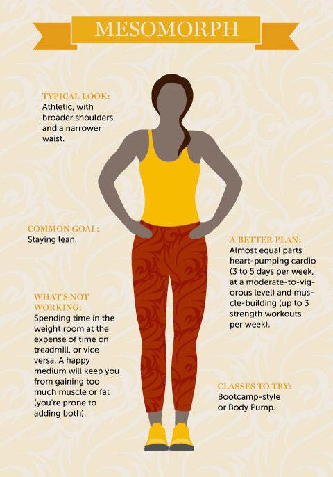แผนการออกกำลังกายที่เหมาะกับโครงสร้างร่างกายสมส่วน
