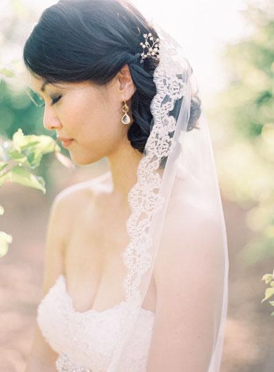 ทรงผมแต่งงาน ผมมวยต่ำ