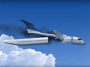 เครื่องบินแยกห้องโดยสารเมื่อเครื่องบินตก