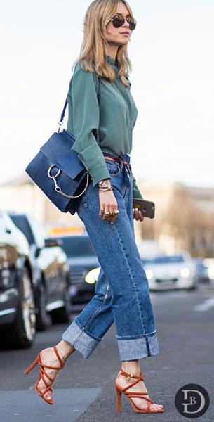 กระเป๋า Chloe Faye สีน้ำเงิน