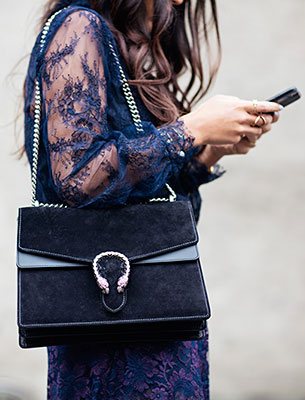 กระเป๋า Gucci สีน้ำเงิน