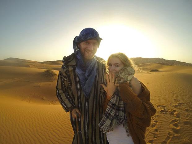 หมั้นกันที่ทะเลทรายซาฮารา