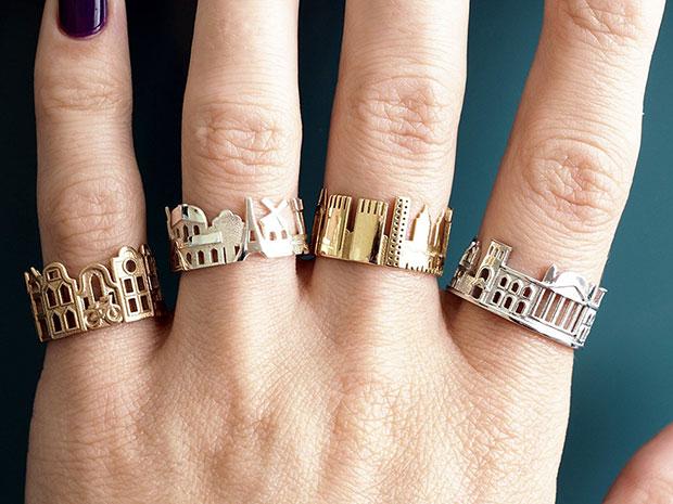 แหวนแฟชั่นที่ทำให้ได้สวมมหานครติดนิ้วไปได้ทุกที่