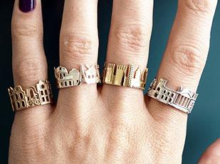 แหวนแฟชั่นรูปเมือง