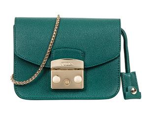 กระเป๋า FURLA Metropolis สีเขียว