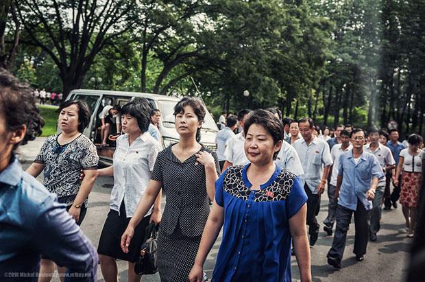 ภาพถ่ายผู้คนในเกาหลีเหนือ